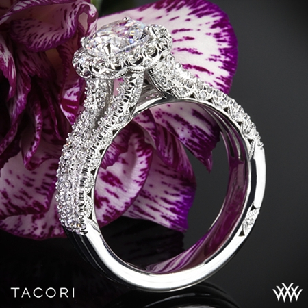 Tacori HT2551RD Petite Crescent Triple Row Diamond Engagement Ring