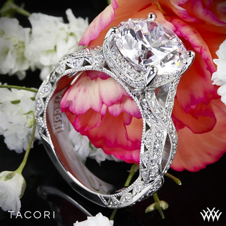 Tacori HT2606RD RoyalT Curved Diamond Engagement Ring