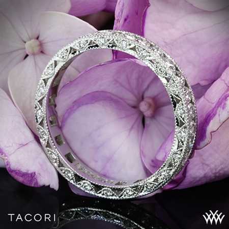 Tacori HT2607B RoyalT Eternity Millgrain Diamond Wedding Ring