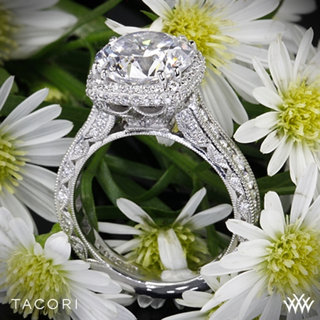 Tacori HT2607RD RoyalT Cushion-Style Bloom Diamond Engagement Ring