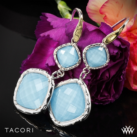 Tacori SE118Y05 Barbados Blue Clear Quartz over Neolite Turquoise Earrings