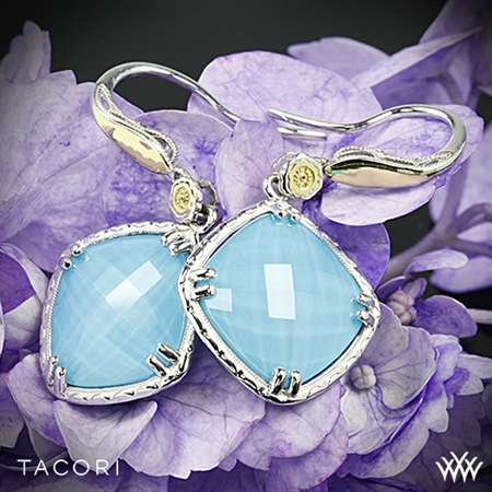 Tacori SE137Y05 Barbados Blue Clear Quartz over Neolite Turquoise Earrings