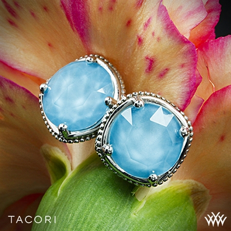 Tacori SE15405 Island Rains Clear Quartz over Neolite Turquoise Stud Earrings