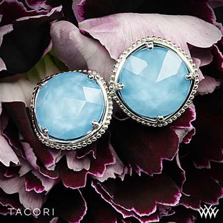 Tacori SE15605 Island Rains Clear Quartz over Neolite Turquoise Earrings