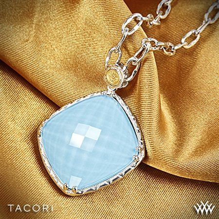 Tacori SN13305 Barbados Blue Clear Quartz over Neolite Turquoise Pendant
