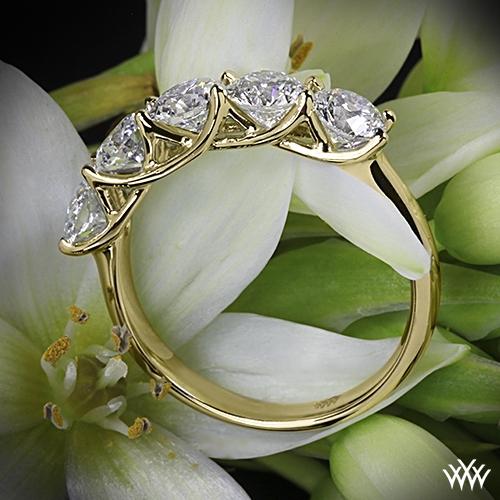 5 Stone Trellis Diamond Right Hand Ring 2317