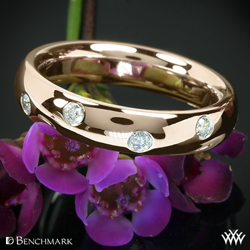 Benchmark Scattered Diamond Wedding Ring