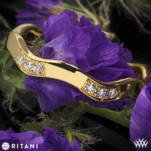 Ritani S45-8 Stack Wave Diamond Right Hand Ring