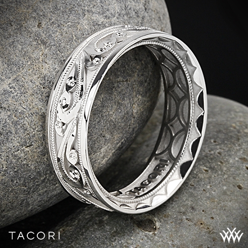 Tacori Sculpted Crescent Eternity Wedding Ring