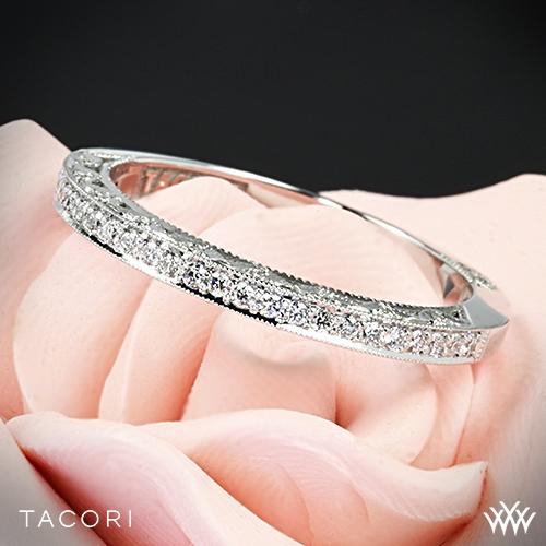 tacori 2616b classic crescent pave diamond wedding ring - Tacori Wedding Ring