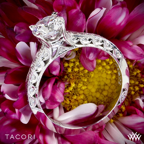 Tacori 2616RD Classic Crescent Pave Diamond Engagement Ring