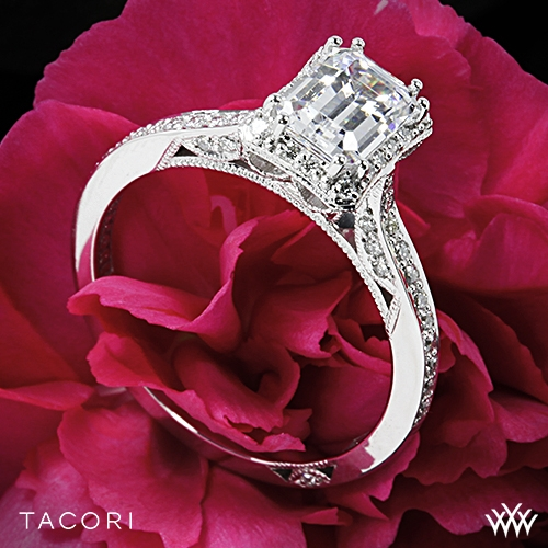 Tacori 2620 Ec Sm Dantela Crown For Emerald Diamond Engagement Ring 2609