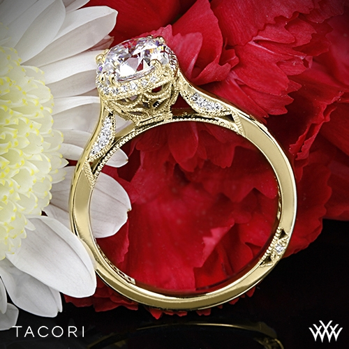 Tacori 2620RD Dantela Crown Solitaire Engagement Ring