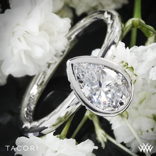 Tacori Starlit Pear Bezel Solitaire Engagement Ring