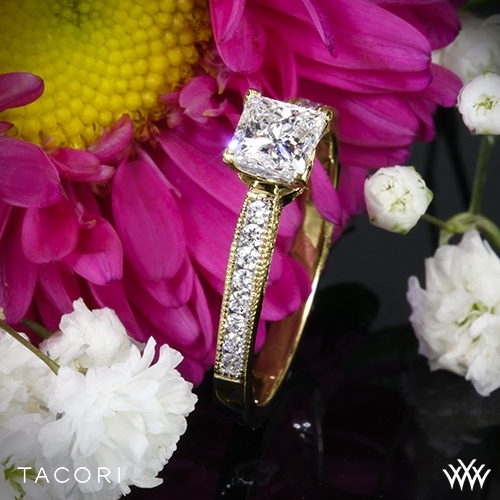 Tacori 3003 Simply Tacori Crescent Complete Diamond Engagement Ring for Princess