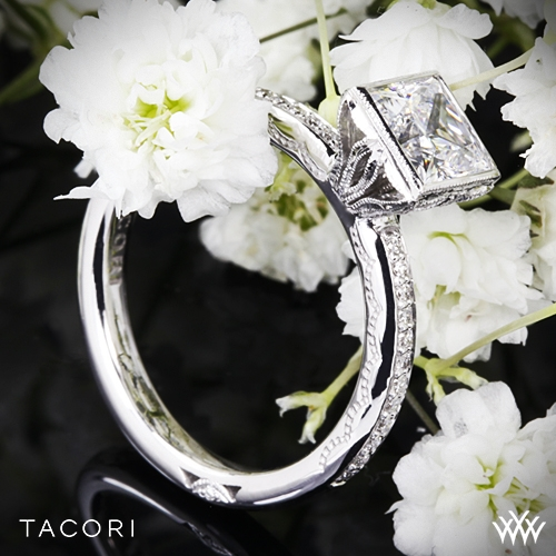 Tacori 305-25PR Starlit Bezel Diamond Engagement Ring for Princess