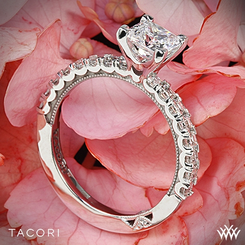 Tacori 32-2PR Clean Crescent Diamond Engagement Ring for Princess
