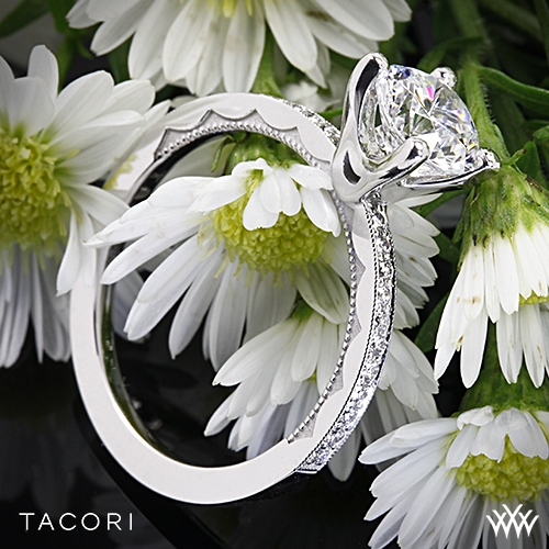 Tacori 41-15RD Sculpted Crescent Diamond Engagement Ring