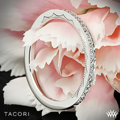 Tacori 41-15 Sculpted Crescent Diamond Wedding Ring