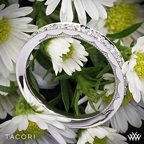 Tacori 41-25 Sculpted Crescent Diamond Wedding Ring
