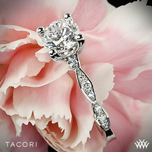 Tacori 46-2RD Sculpted Crescent Diamond Engagement Ring