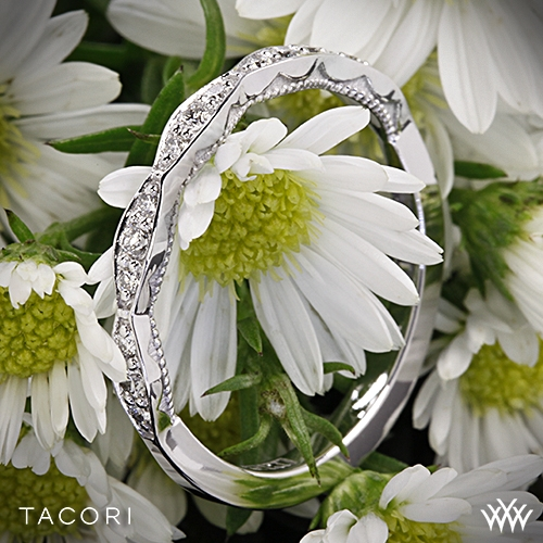 Tacori 46-2 Sculpted Crescent Diamond Wedding Ring