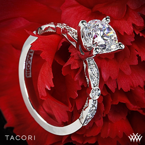 Tacori 47-2RD Sculpted Crescent Petite Diamond Engagement Ring