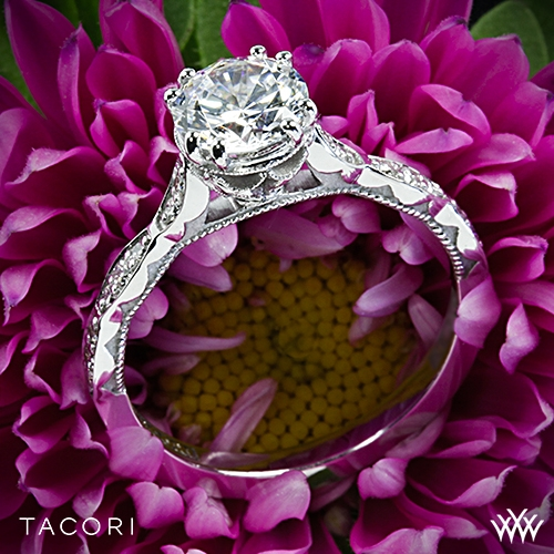 Tacori 57-2RD Sculpted Crescent Diamond Engagement Ring