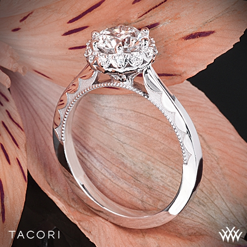 Tacori Crescent Enement Ring | Tacori Sculpted Crescent Harmony Solitaire Engagement Ring 2836