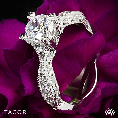 Tacori 2578RD Classic Crescent Twist Diamond Engagement Ring