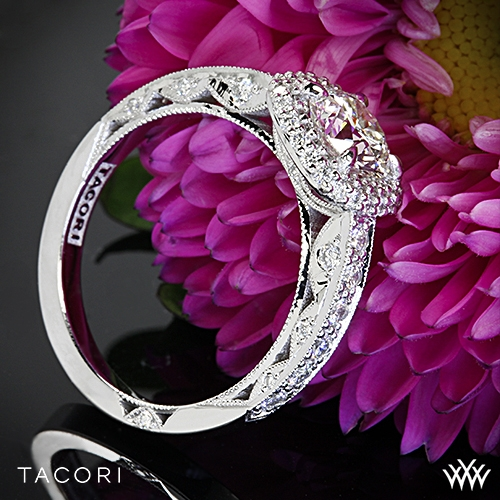 Tacori HT2520CU Blooming Beauties Double Cushion Halo Diamond Engagement Ring