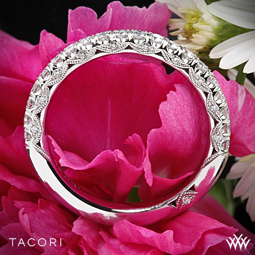 Tacori HT2545B Classic Crescent Scalloped Millgrain Diamond Wedding Ring