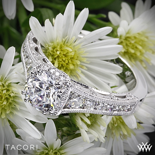 Tacori HT2515RD Reverse Crescent Contemporary Diamond Engagement Ring