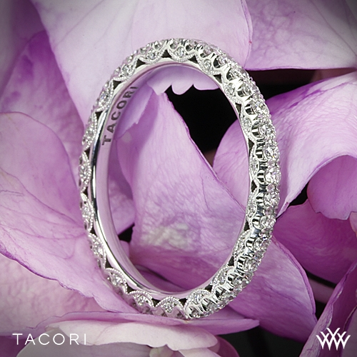 Tacori HT2545B Classic Crescent Eternity Scalloped Millgrain Diamond Wedding Ring
