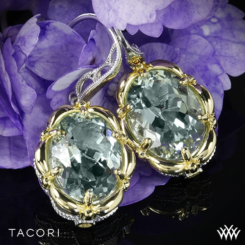 Tacori SE134Y12 Seafoam Mint Prasiolite Dangle Earrings
