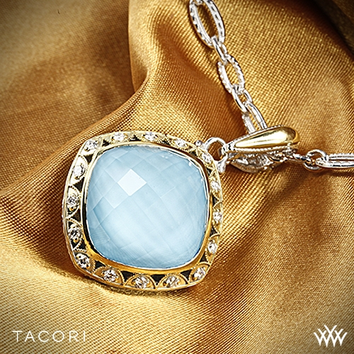 Tacori SN100Y05 Barbados Blue Clear Quartz over Neolite Turquoise and Diamond Necklace