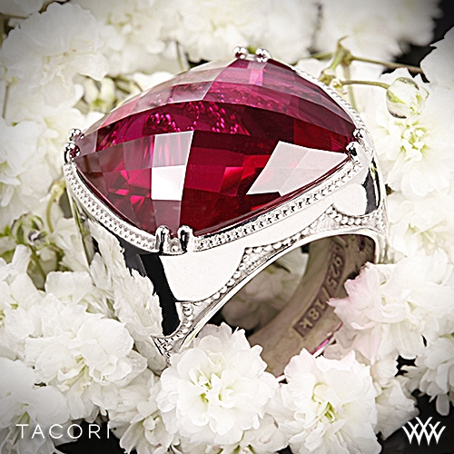 Tacori SR14834 City Lights Clear Quartz over Ruby Red Quartz Ring