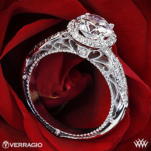 Verragio AFN-5005R-2 Round Halo Twist Diamond Engagement Ring