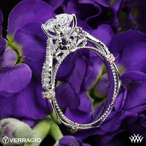 Verragio DL-105-GL Braided Diamond Engagement Ring