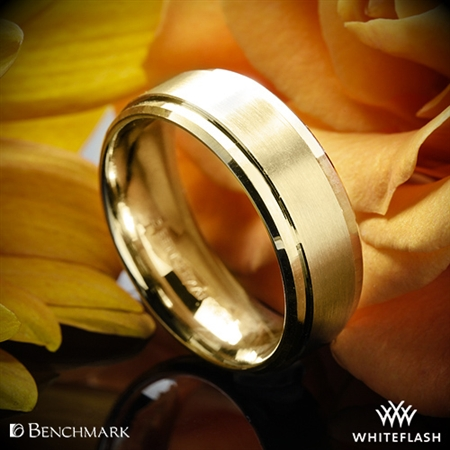 Benchmark CF68486 Drop Bevel Satin Wedding Ring