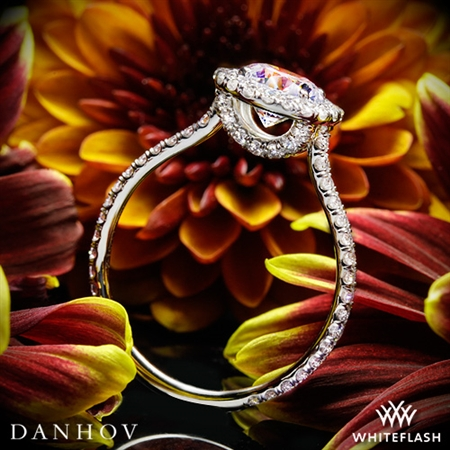 Danhov LE112 Per Lei Halo Diamond Engagement Ring