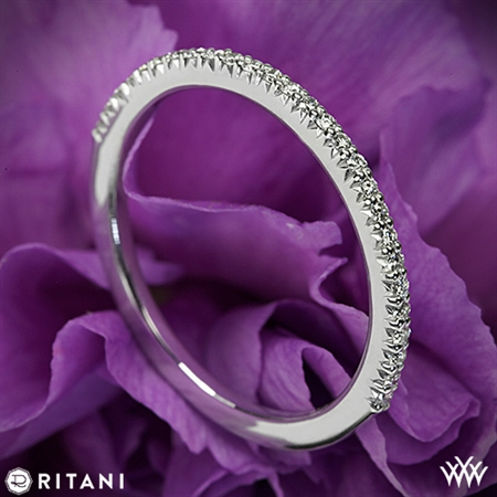 Ritani 23700 Open Micropavé Diamond Wedding Ring