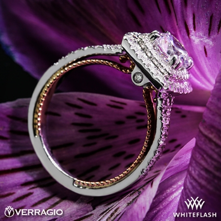Verragio ENG-0425CU-2T Couture Diamond Halo Engagement Ring