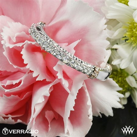 Verragio CL-DL-124W Rounded Shared-Prong Diamond Wedding Ring