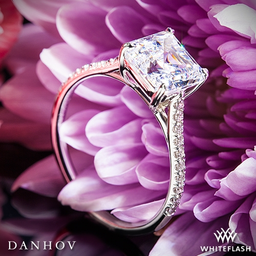 Danhov CL138P Classico Single Shank Diamond Engagement Ring for Princess