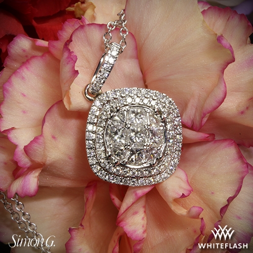 Simon G. MP1797 Simon Set Diamond Pendant