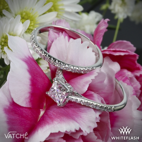 Vatche Inara Pave Diamond Wedding Set