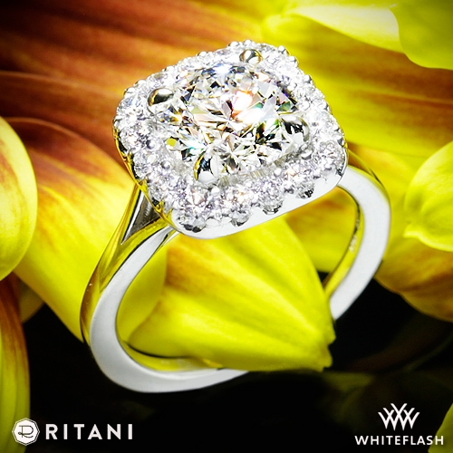 Ritani 1RZ1322 French-Set Halo Engagement Ring