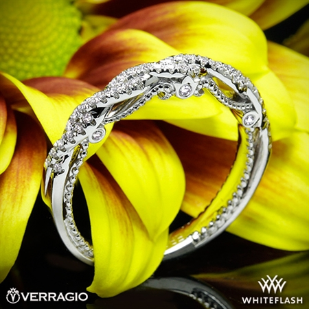 Verragio INS-7074W Beaded Twist Diamond Wedding Ring