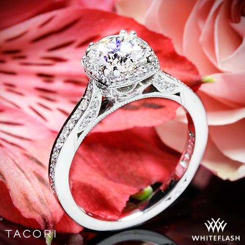 Tacori 2620RDP Dantela Crown Diamond Engagement Ring 2524